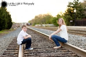 Brother and Sister Portrait taken by local photographer in Manassas Virginia