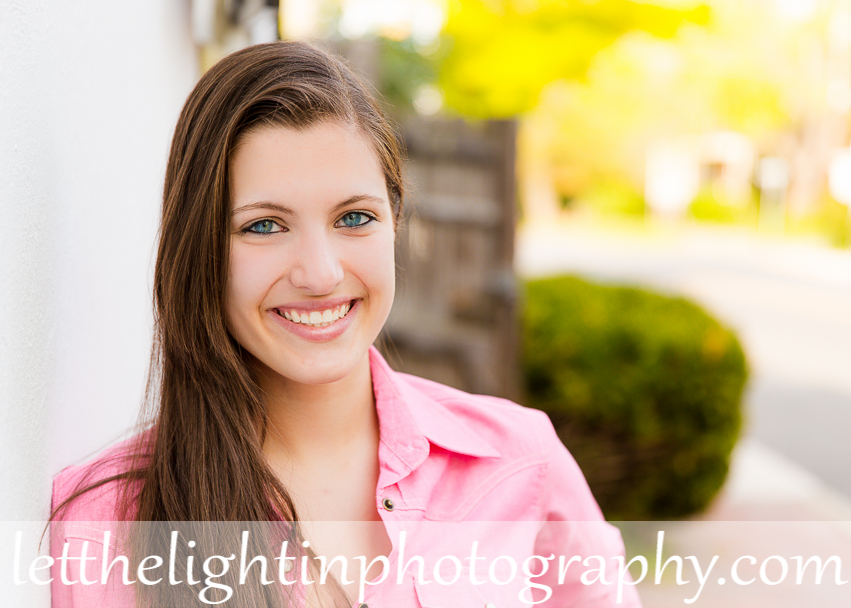 High School girl leaning against a wall by local Middleburg Portrait Photographer