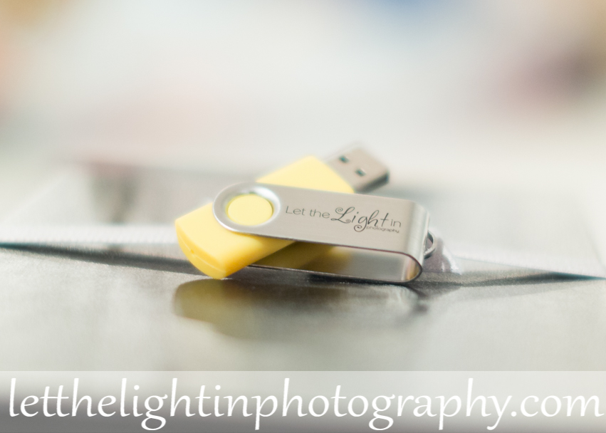 Custom USB drive for clients from Northern VA Photographer offering Digital Images or Files