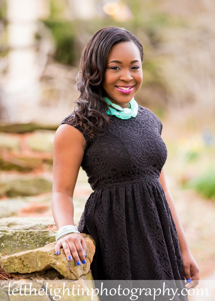 黒人女の子の上級写真