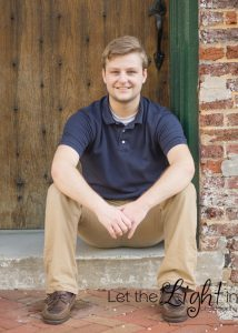Senior in High School Guy posing for portrait in Warrenton VA