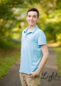Senior Male posing for Senior Pictures in Bristow VA