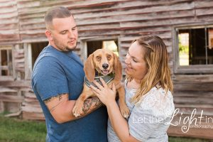 couple with their beagle taken by couples photographer in Manassas Virginia