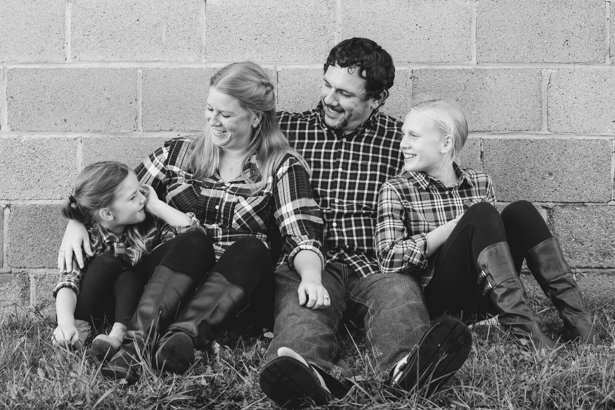 Family Portrait on a farm in Northern Virginia