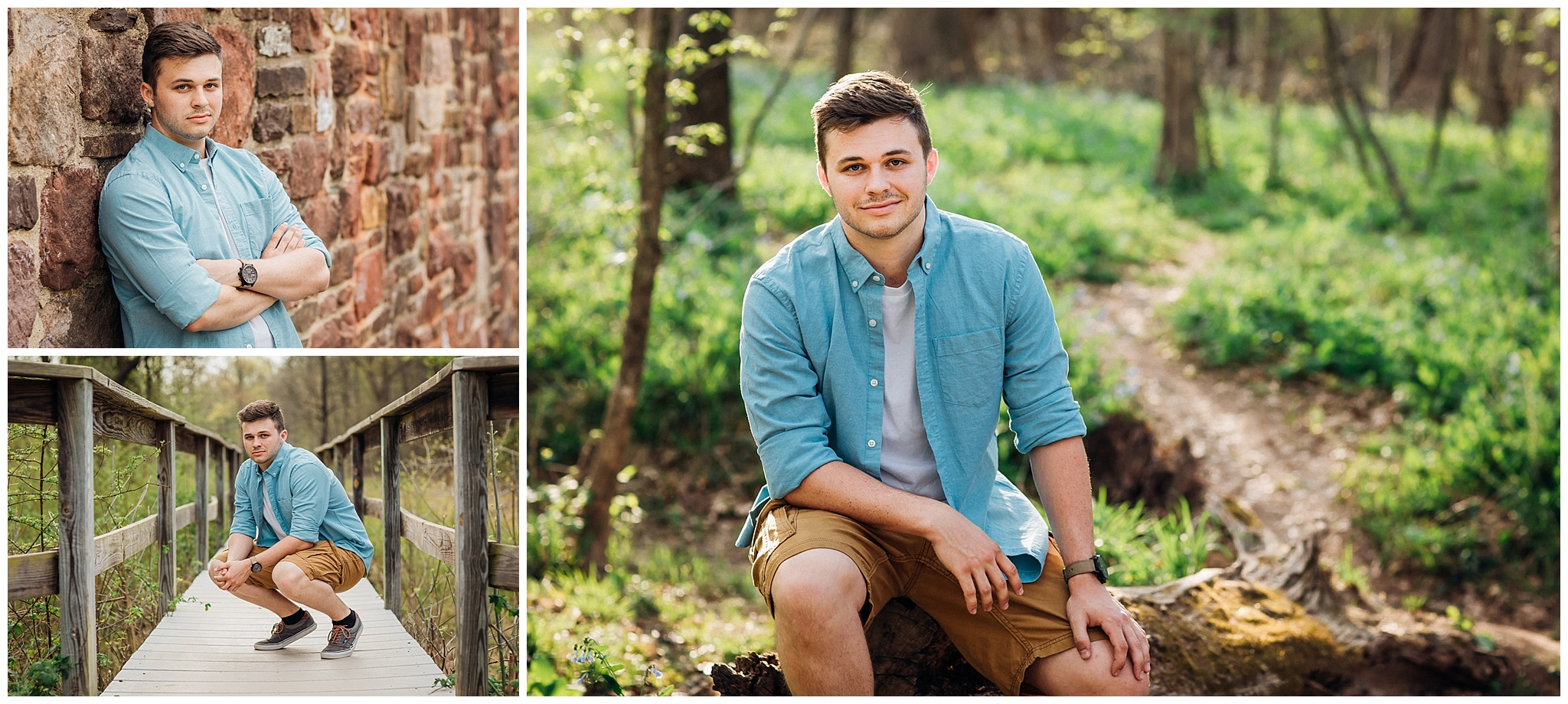 High School Senior guy collage of images from local Senior Photographer near Gainesville VA