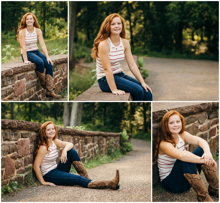 Senior girl on Stone Bridge