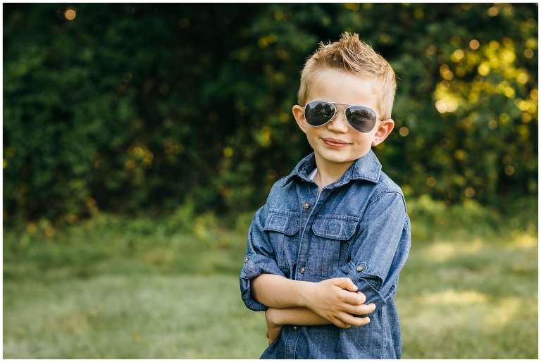Little guy with aviator sunglasses