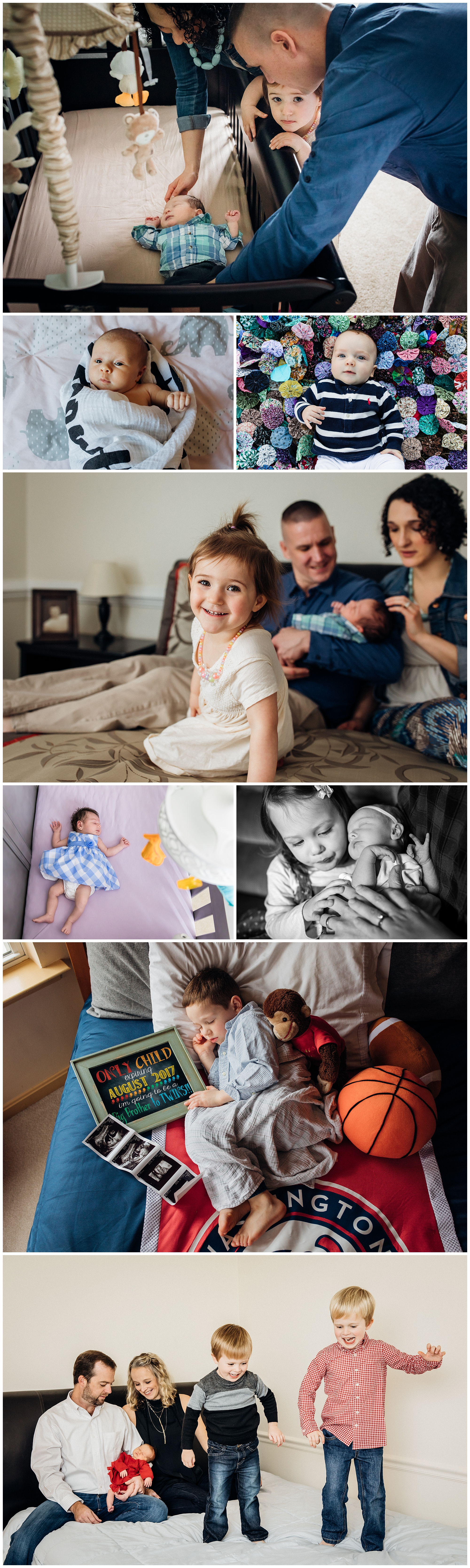 Collection of images Newborn Lifestyle Photographer in Virginia
