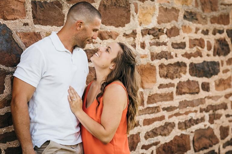 Engagement photos at Manassas Battlefield Stone House