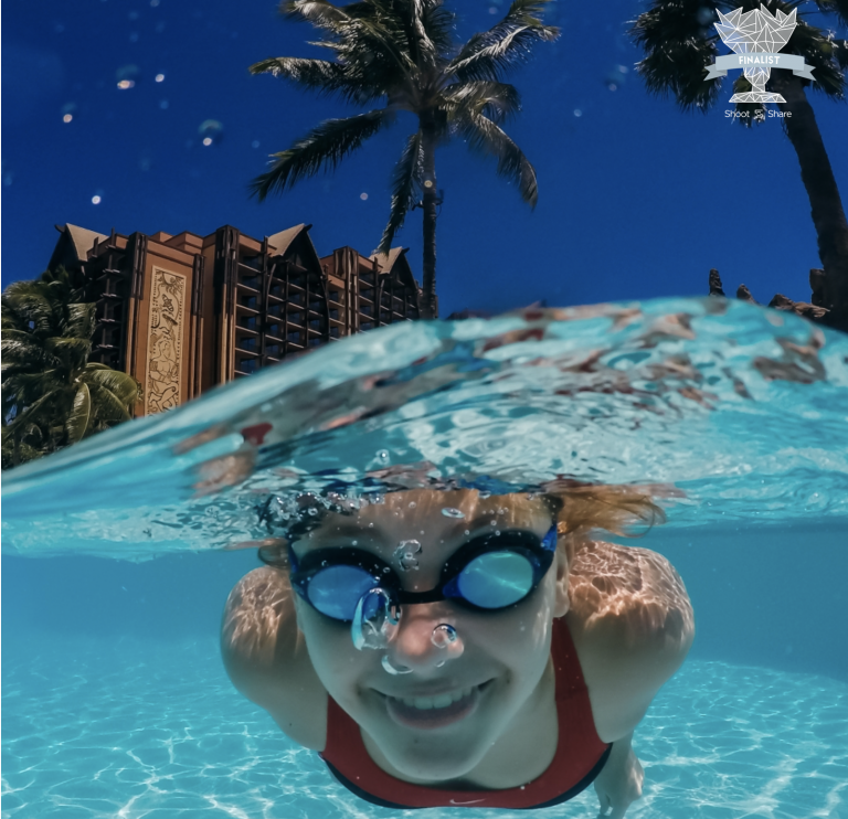 Underwater image from Aulani in Hawaii on Oahu